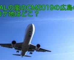 JAL 嵐 CM ロケ地 広島