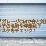 ヨドガレージCMで杏と共演の三つ子の名前や年齢は?インスタをチェック!