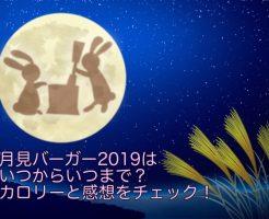 月見バーガー 2019 いつまで