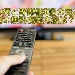 恋の病と野郎組9話の見逃し動画の無料視聴方法は?作間龍斗のシーンはカット?