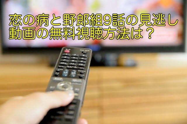 恋の病と野郎組 9話 動画