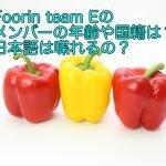Foorin team Eのメンバーの年齢や国籍は?日本語は喋れるの?