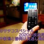 忘却のサチコスペシャル2020の放送局は?関西や新潟と静岡は見逃し動画で!