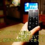 シロクロ(ドラマ)1話の再放送はいつ?見逃し動画を無料視聴できる?