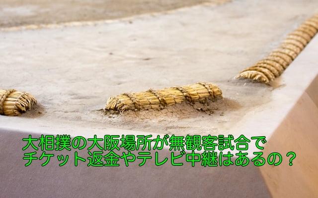 大相撲 大阪場所 無観客試合