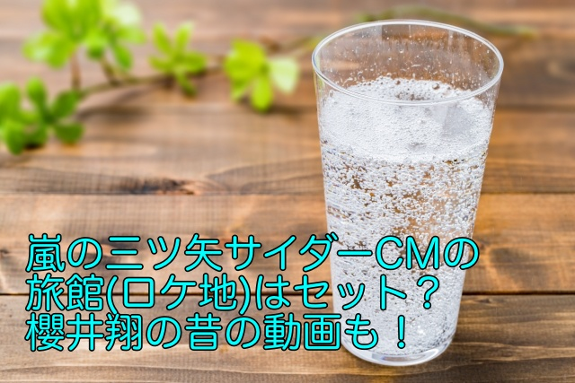 三ツ矢サイダー 嵐 cm ロケ地