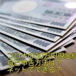 コロナの30万円現金給付の自己申告方法は?ネットでできる?