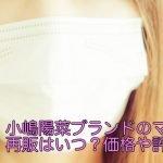 小嶋陽菜ブランドのマスクの再販はいつ?価格や評判は?